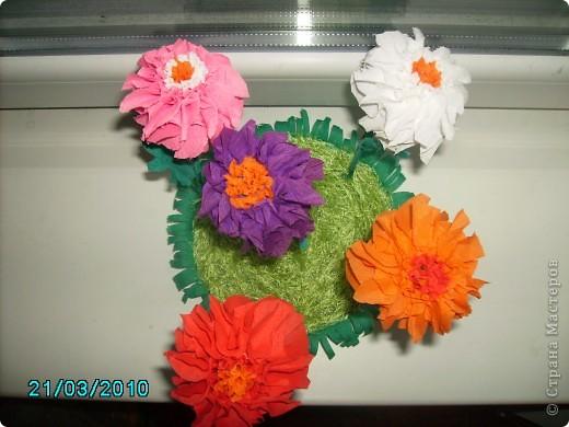 Спасибо Татьяне Просняковой за МК. Вот какие цветы у меня получились  фото 3