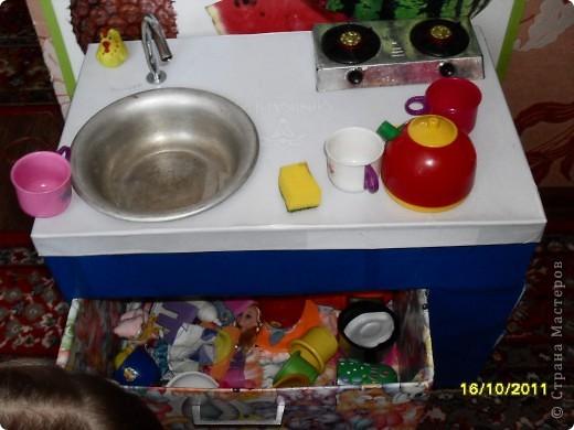 Вот такая кухня у нас получилась. Дочке как раз к 2,5 годам подарок сделали. Но все попорядку. фото 6
