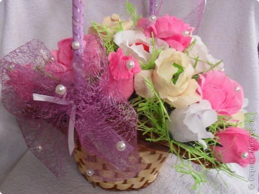 Корзина сладких роз фото 1