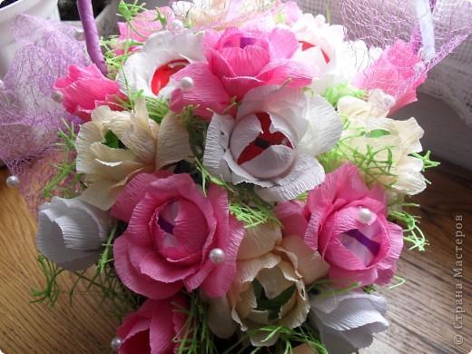 Корзина сладких роз фото 2