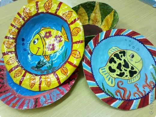 Весёлые тарелочки (работы учеников) фото 5