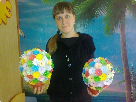 """Вот такую красоту я умею делать из клея,ниток и цветной двух.бумаги! Я назвала свою работу """" Цветы Жизни"""" фото 1"""