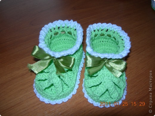 пинетки сандалики для малышки моей знакомой фото 2