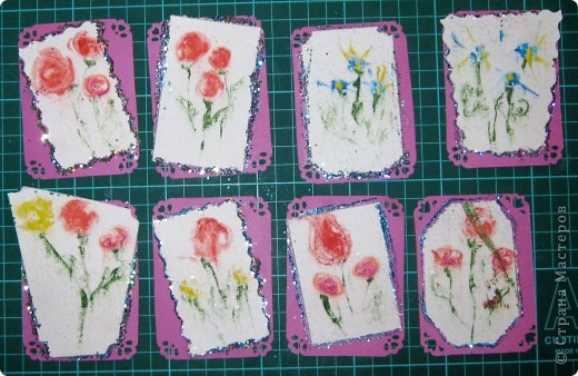 Вот такие карточки у нас получились. ...снова небольшой эксперимент... фото 8