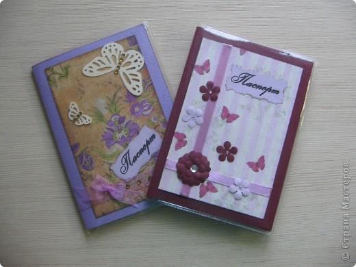 Вот такие обдожки для паспорта сделали мы с дочерью Галей себе любимым. фото 1