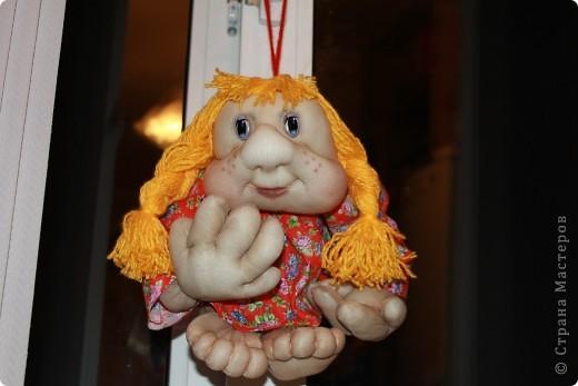 Моя первая кукла из капрона.