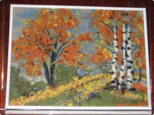 """картина 30х40 """"Осенний лес"""""""