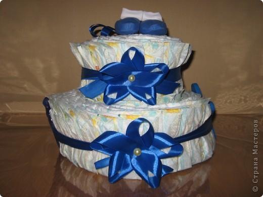 """У маминой подруги родился внучек. Вот и нашелся для меня повод """"испечь"""" еще один тортик :) фото 1"""