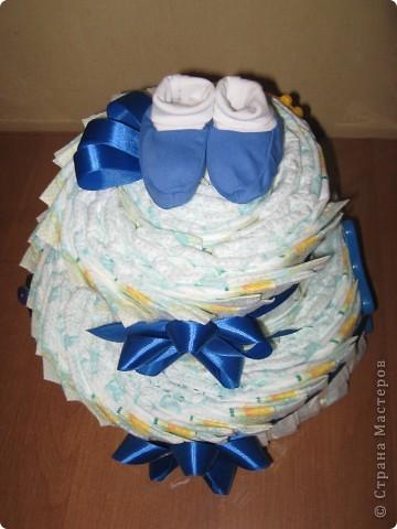 """У маминой подруги родился внучек. Вот и нашелся для меня повод """"испечь"""" еще один тортик :) фото 2"""