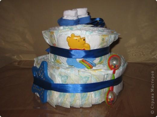 """У маминой подруги родился внучек. Вот и нашелся для меня повод """"испечь"""" еще один тортик :) фото 3"""