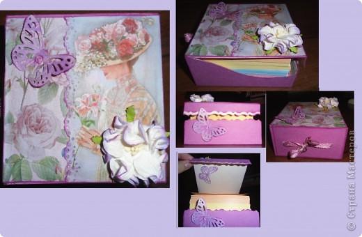 коробочка с листочками для записей