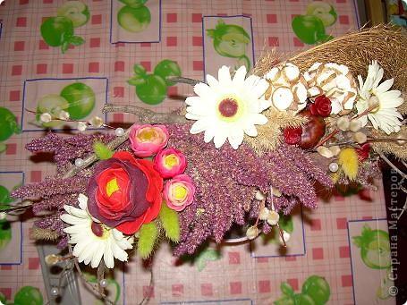 Сухоцветный топиарий с цветами из ХФ и многим другим.... фото 4