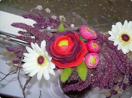 Сухоцветный топиарий с цветами из ХФ и многим другим.... фото 6