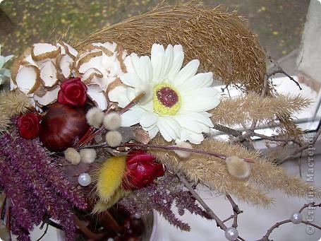 Сухоцветный топиарий с цветами из ХФ и многим другим.... фото 7