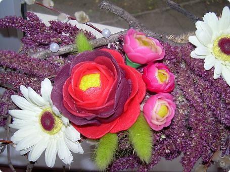 Сухоцветный топиарий с цветами из ХФ и многим другим.... фото 10