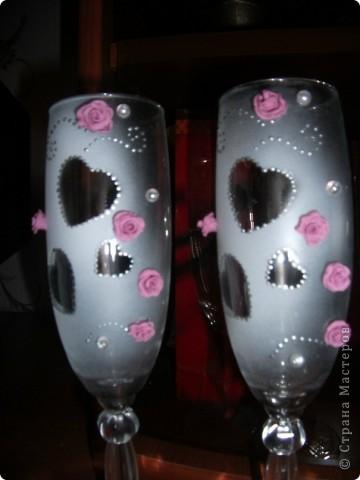 вот такие у меня получились первые бокалы (но, почему то, очень пахли краской)  фото 2