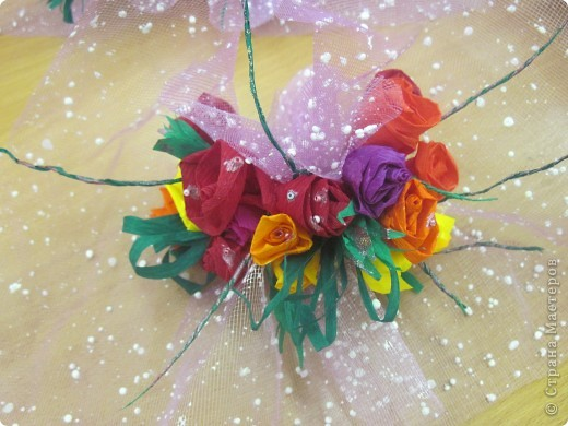 Вот такие букетики сделали девчата 6 класса в подарок учителям. фото 2