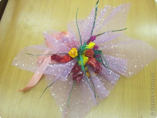 Вот такие букетики сделали девчата 6 класса в подарок учителям. фото 4