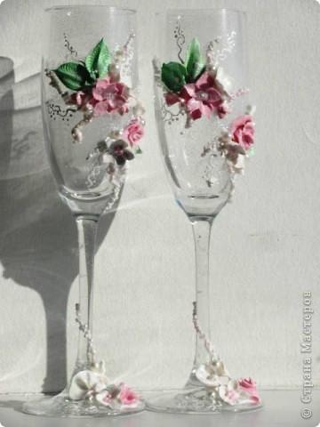 """Свадебные бокалы"""" Цветочный дуэт"""" фото 1"""