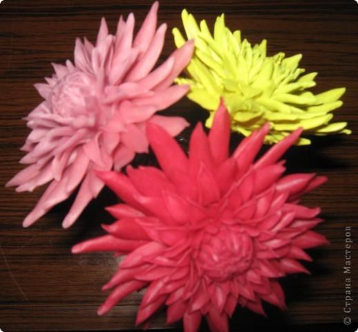 хризантемы из холодного фарфора