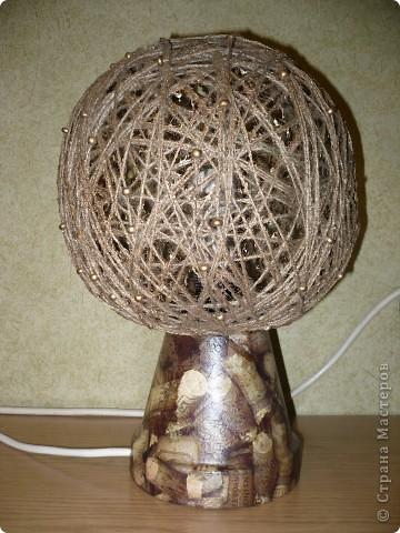 Светильник для дачи(из цветочного горшка) фото 1