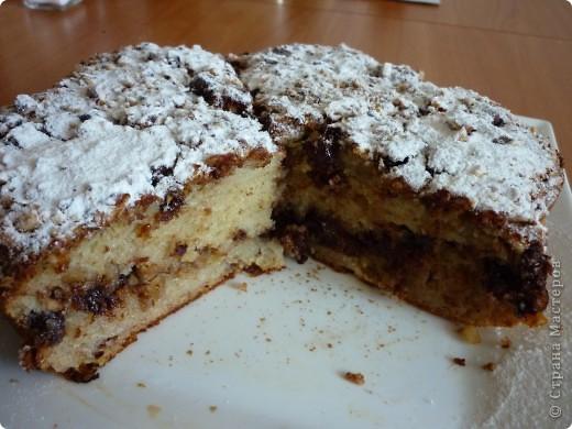 """Хочу предложить Вам пирог,который очень подойдет для """"утилизации """" бананов.Раньше спасалась в этом случае кексами- http://stranamasterov.ru/node/185629 .Но моим они поднадоели,вот и пришлось искать другой вариант. фото 2"""
