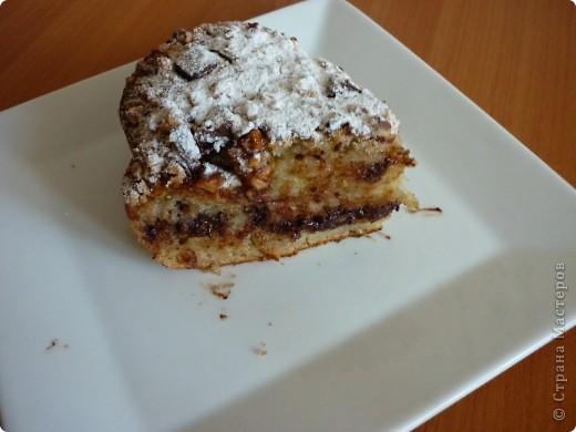 """Хочу предложить Вам пирог,который очень подойдет для """"утилизации """" бананов.Раньше спасалась в этом случае кексами- http://stranamasterov.ru/node/185629 .Но моим они поднадоели,вот и пришлось искать другой вариант. фото 13"""