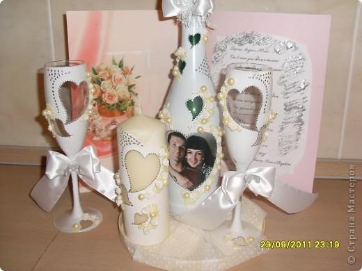 Вот и я сделала свой первый свадебный набор, для своей подруге!!! Ей очень понравилось! И гостям тоже! Спасибо большое всем мастерицам, только благодаря вам всем я на это решилась! Еще раз спасибо!!!  фото 1