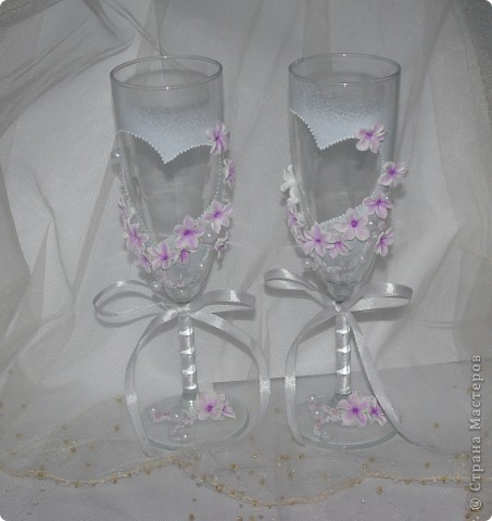 """Свадебные бокалы """"Лунный цветок"""" фото 1"""