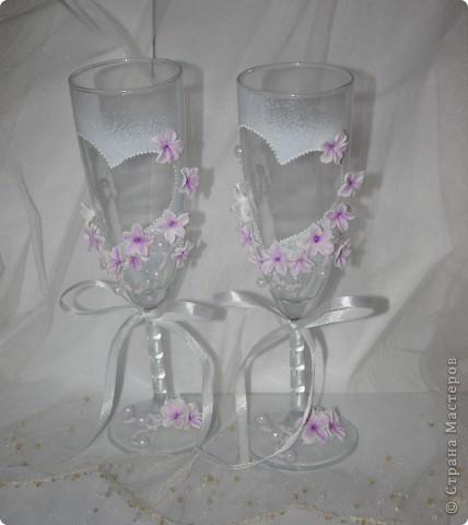 """Свадебные бокалы """"Лунный цветок"""" фото 3"""