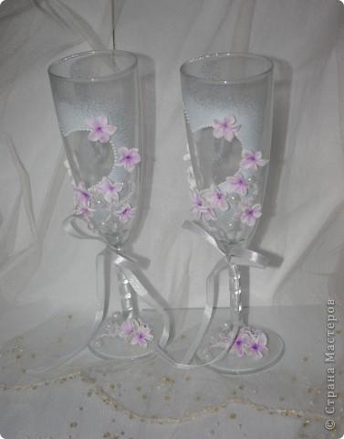 """Свадебные бокалы """"Лунный цветок"""" фото 4"""