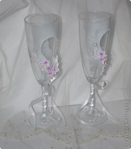 """Свадебные бокалы """"Лунный цветок"""" фото 5"""