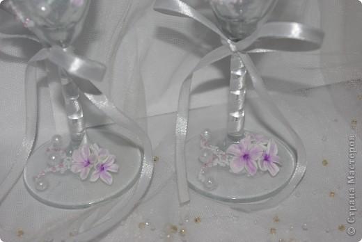 """Свадебные бокалы """"Лунный цветок"""" фото 6"""