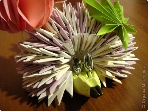 Как сделать оригами ёжик