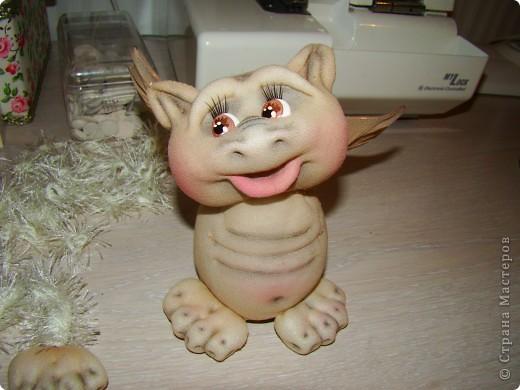 Куклы Новый год Шитьё Дракончики Мастер класс 2 часть Капрон фото 7