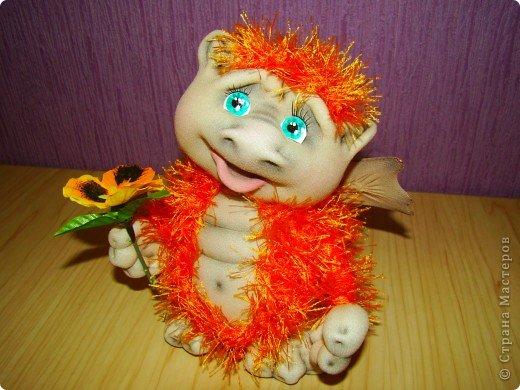 Куклы Новый год Шитьё Дракончики Мастер класс 2 часть Капрон фото 1