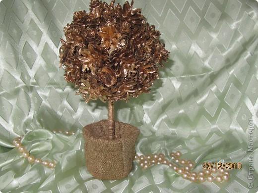 Поделки из шишек дерево своими руками фото