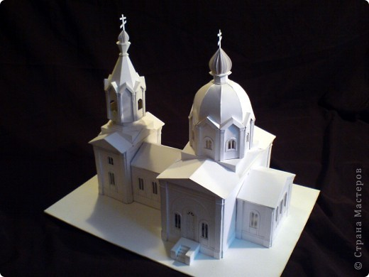 Как сделать макет церкви из бумаги своими