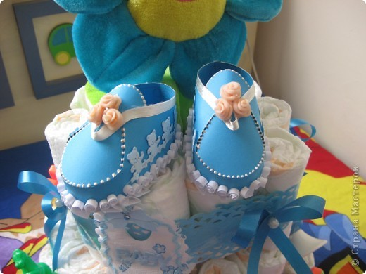 Tort iz pampersov фото 2