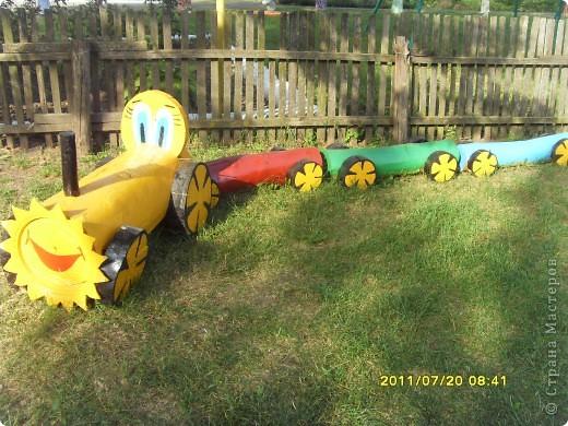 """Поезд из Ромашкиново """" ProstoDelkino.com - поделки своими руками."""