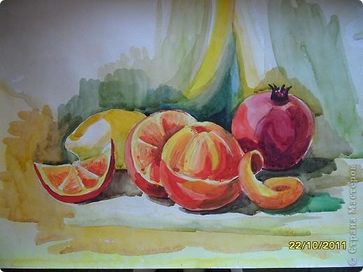 акварельная живопись натюрморт: