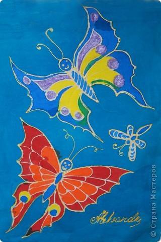 "Платок ""Бабочки"" фото 4"