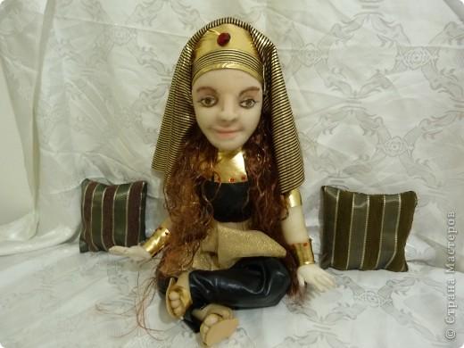 """девочка в костюме """"Клеопатры"""" Подруга попросила сделать ко дню рождения дочери куклу по ее фото. вот, что получилось. фото 2"""
