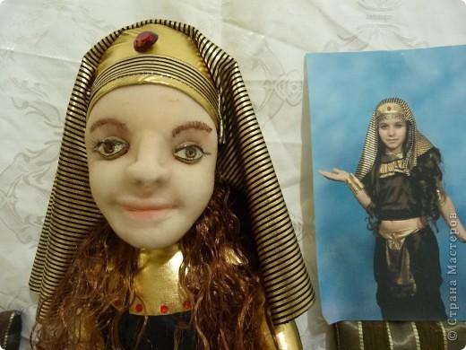 """девочка в костюме """"Клеопатры"""" Подруга попросила сделать ко дню рождения дочери куклу по ее фото. вот, что получилось. фото 1"""