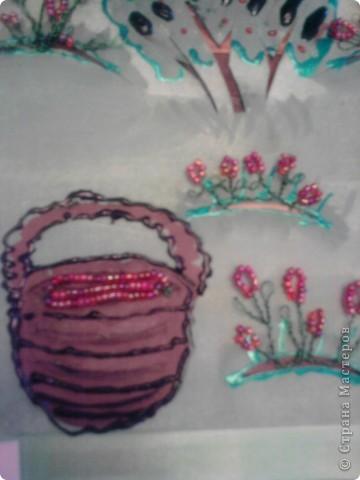 Элементы (Ягоды - бисер, корзина частично вырезана.