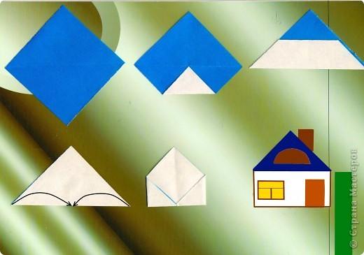 Мастер-класс Педагогический опыт Раннее развитие Оригами Оригами Строим дом Занятие 12 Бумага фото 4