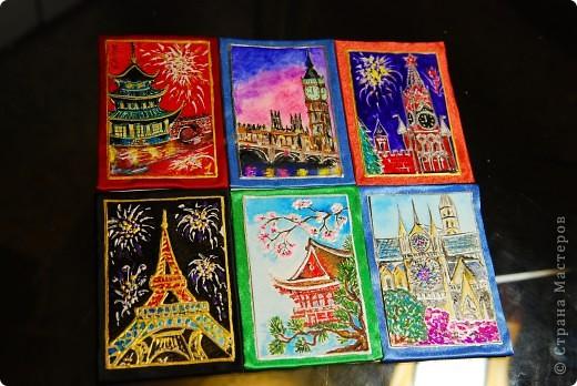 """Серия """"Города и страны"""". Эти карточки я просто показываю,т.к. они остаются дома. В принципе, любую из них могу отрисовать на заказ. фото 1"""