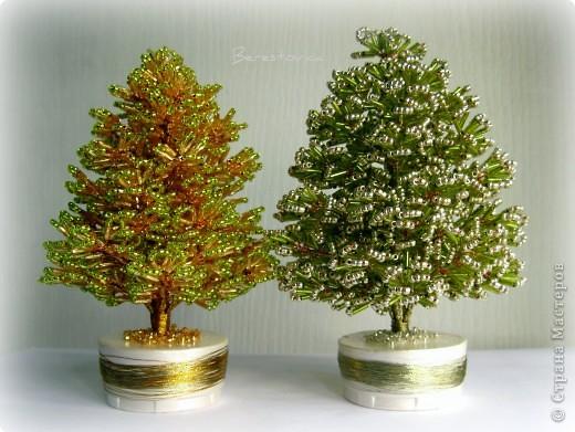 Дерево из бисера елка