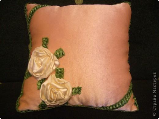 Игольница, украшенная розочкой. фото 5