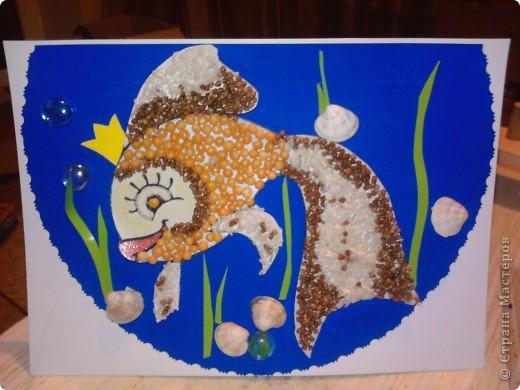"""Сынуля ходит в группу """"золотая рыбка"""" и когда было дано задание на выставку сделать поделку - сразу возникла идея сделать Рыбку, да не простую, а золотую..."""